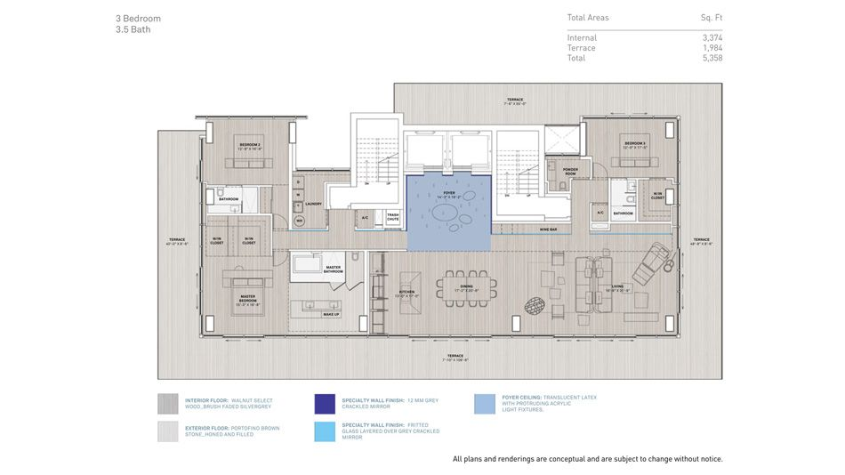 Glass Residential Tower By Rene Gonzalez And Terra Group Floor Plans Country House Plans Floor Plan 4 Bedroom