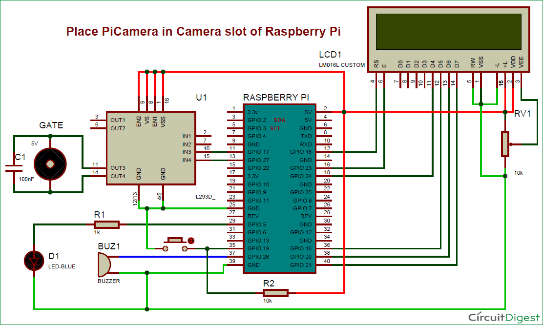 raspberry pi 3 model b wiring diagram tow hitch uk visitor monitoring system with and camera