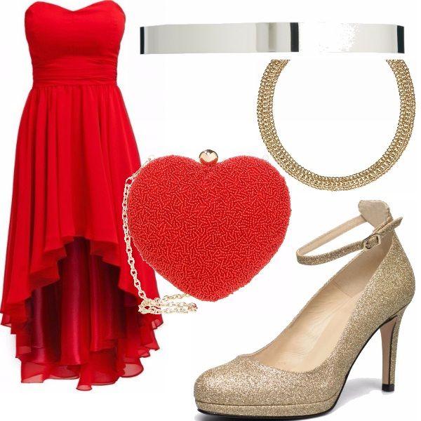 46ceca52f4c9 Vestito rosso corto davanti lungo dietro – Modelli alla moda di ...