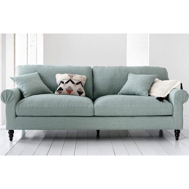 canap fixe juliet toile lin froiss am pm la redoute. Black Bedroom Furniture Sets. Home Design Ideas