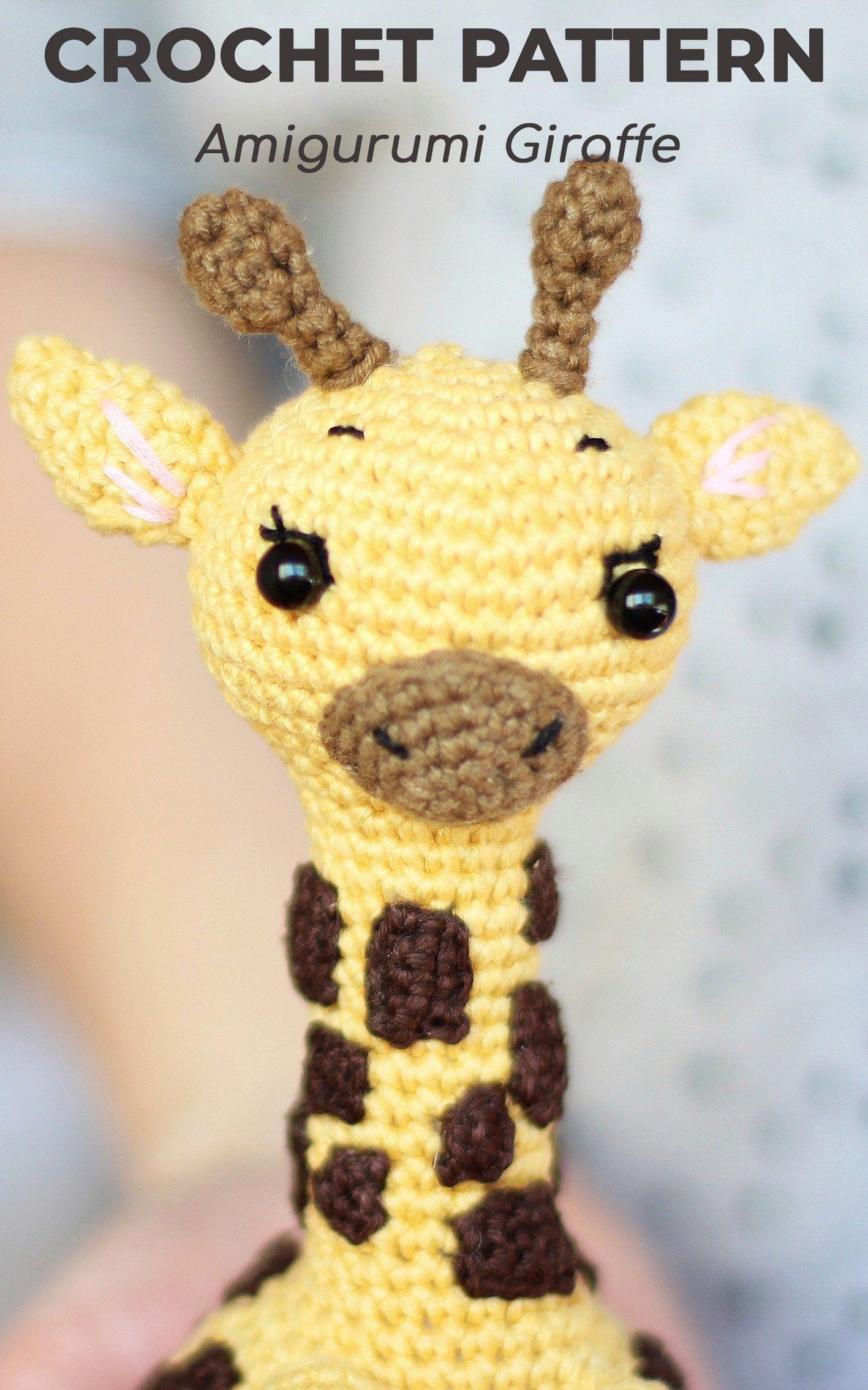 Crochet Giraffe PATTERN Amigurumi giraffe pattern pdf tutorial ... | 2268x1417