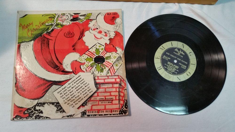 Vinyl Record Christmas Remington Don Gabor Prod Microgroove Holiday 33 1/3 1958 #Christmas