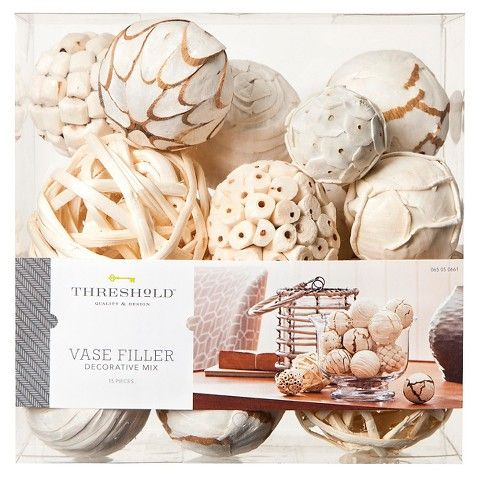 Decorative Bowl Filler Balls Threshold™ Vase Filler  White  Accented Home  Pinterest  Trays