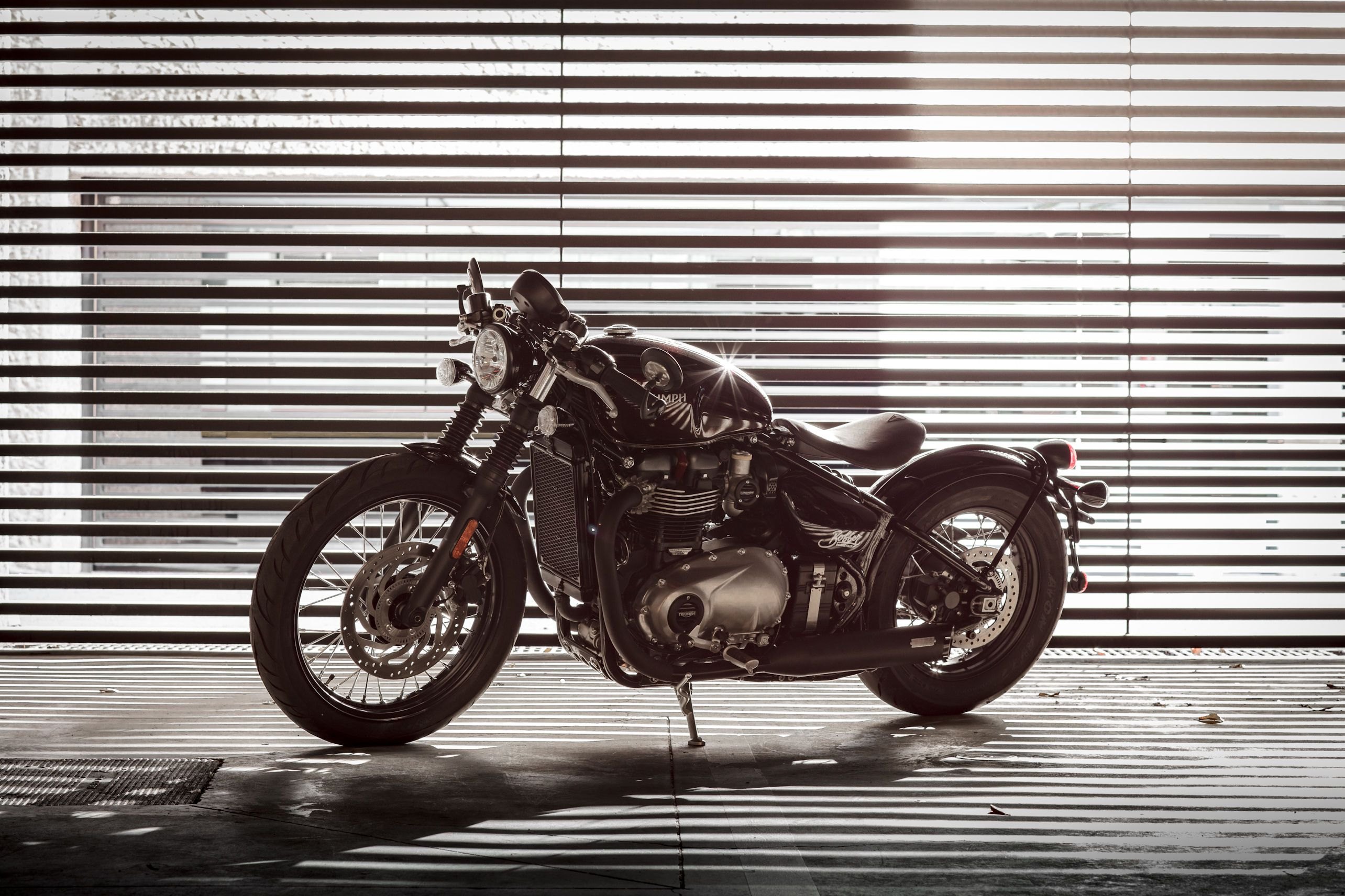 Bonneville Bobber Fitted With A Quarter Mile Inspiration Kit From