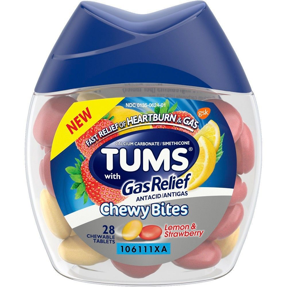 Tums Chewy Bites with Gas Relief 28ct Gas relief, Home