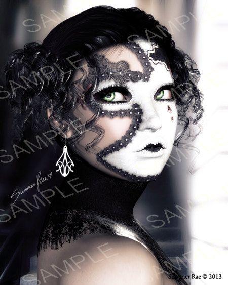 16x20 signed fine art print  Masque by ArtOfSummerRae on Etsy, $17.00