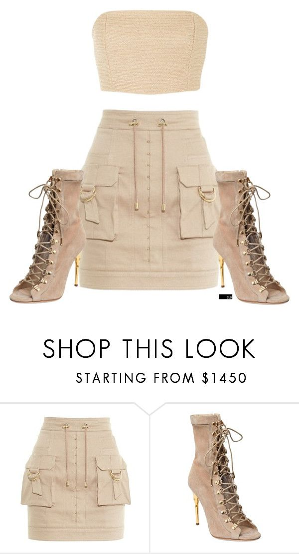 """Untitled #1481"" by chloeoliver-pitelka ❤ liked on Polyvore featuring Balmain and Rosie Assoulin"