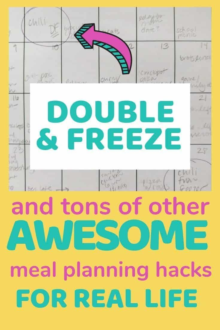 DOUBLE AND FREEZE plus loads of other fast  easy meal planning hacks  tips in  DOUBLE AND FREEZE plus loads of other fast  easy meal planning hacks  tips in