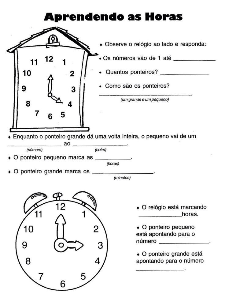 Atividade Horas Planos De Aula Atividades Plano De Aula Matematica