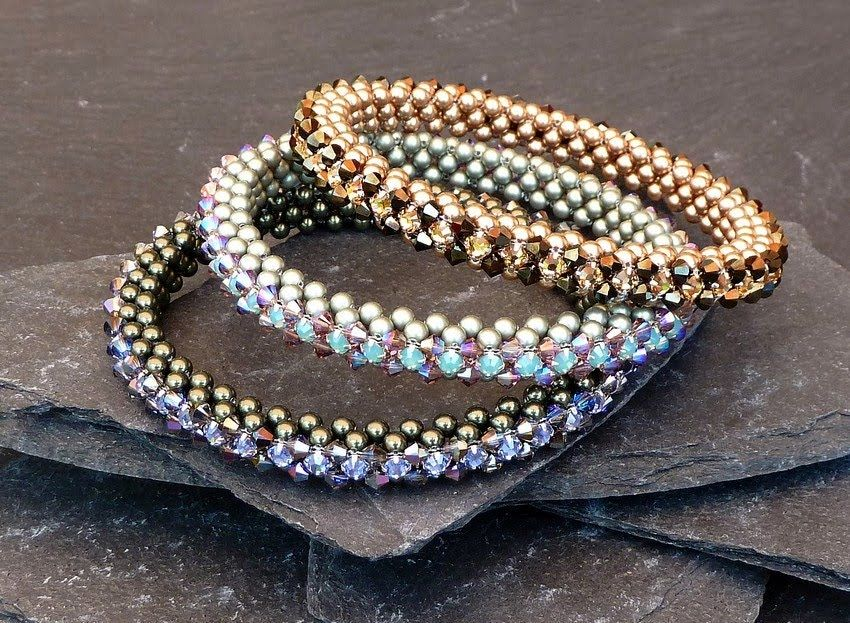 Takara bracelets in more subtle colours | Beading inspiration and ...