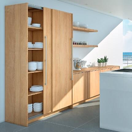 Hettich Topline M 9133612 Top Running Set For Overlay Wood Doors 77 Lbs 2 Door System Wood Doors Tall Cabinet Storage Door Handles