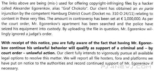 Graf Chokolo sued by Sony