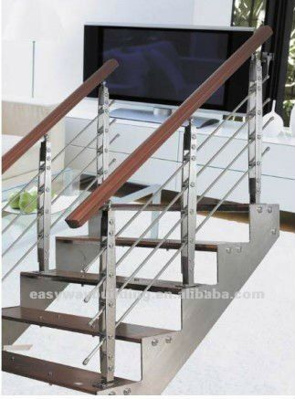 Outdoor Stainless Steel Handrail For Steps In Modern Design   Steel Hand Railing For Stairs   Rustic   Exterior   Backyard   Low Cost   Decorative