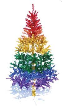 Rainbow Metallic Christmas Tree | rainbow | Pinterest | Christmas ...