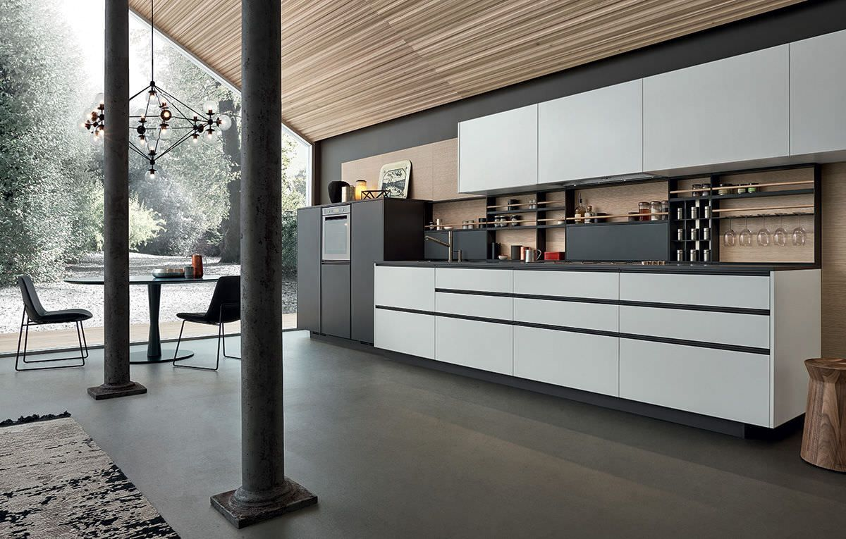 Contemporary Kitchen Lacquered My Planet Varenna Poliform Kitchen Fittings Studio Kitchen Kitchen Interior