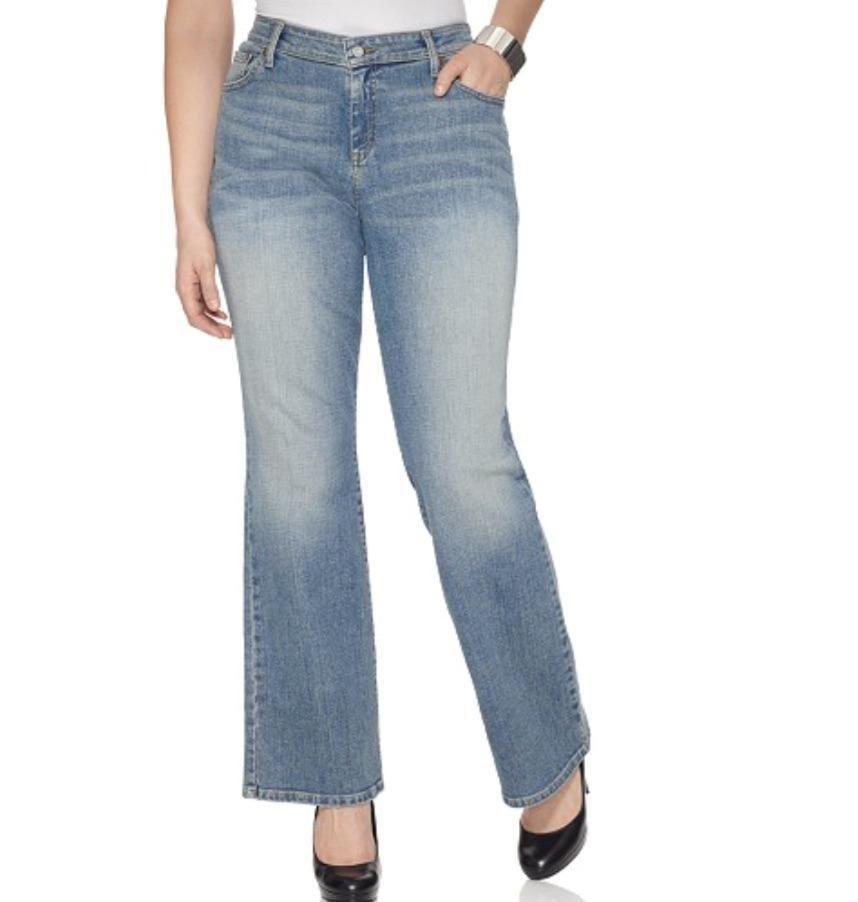a3c26e0e976 Levi s Plus Size 580 Bootcut Jeans Curvy Fit Desert Sky Wash 24W  797  Levis   BootCut