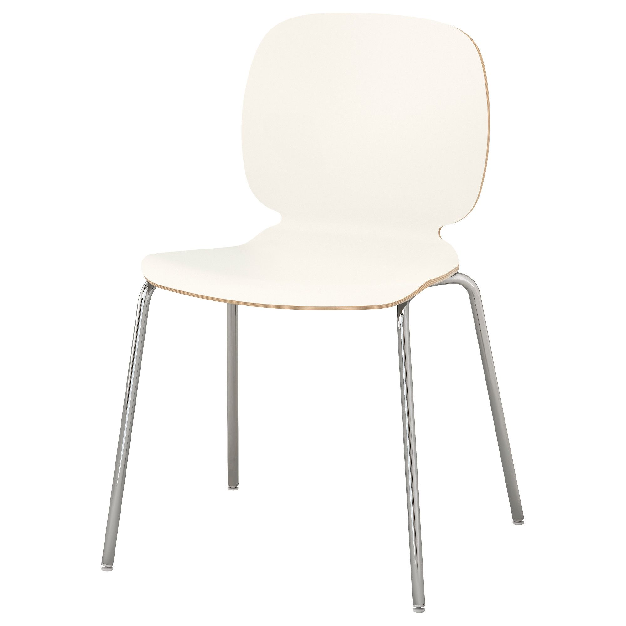 svenbertil chair, white, broringe chrome plated | products