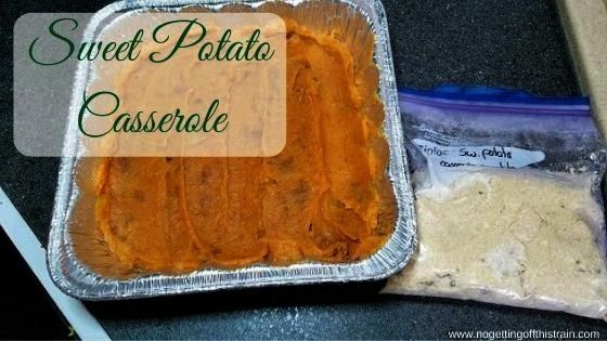 Casserole  No Getting Off This Train  Need an easy holiday side dish This creamy Sweet Potato Casserole can be made ahead of time and pu Sweet Potato Casserole  No Gettin...