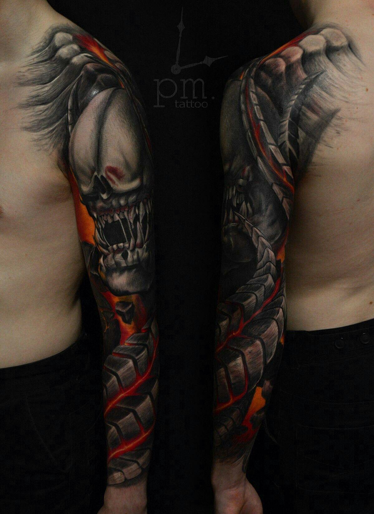 Doom Tattoo Art Dark Pm Tattoo
