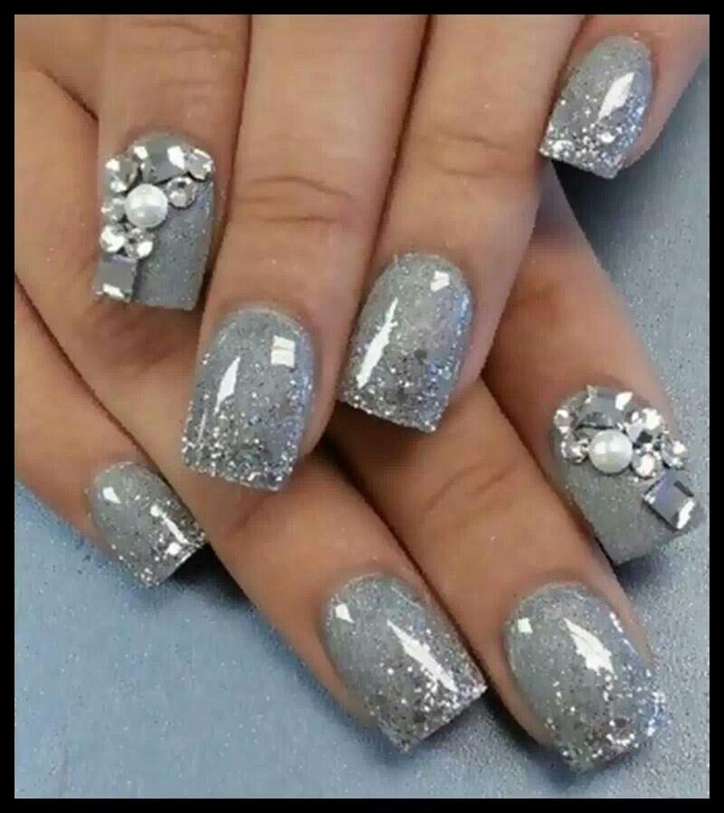 gorgeous grey nail art