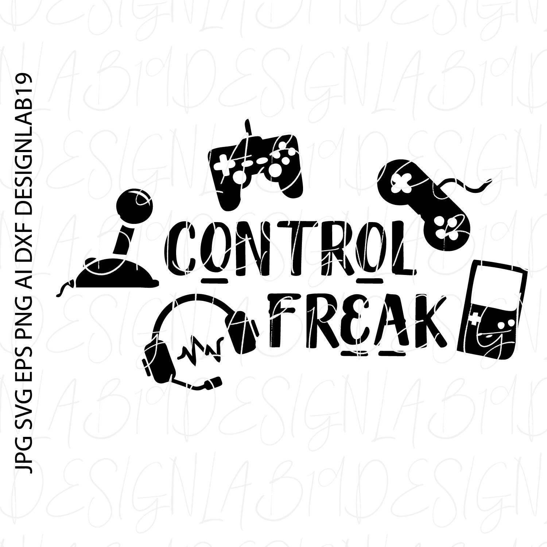Control Freak Video Game Gamer Arcade Computer Nerd