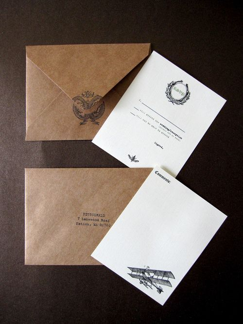 Kraft paper envelopes wedding