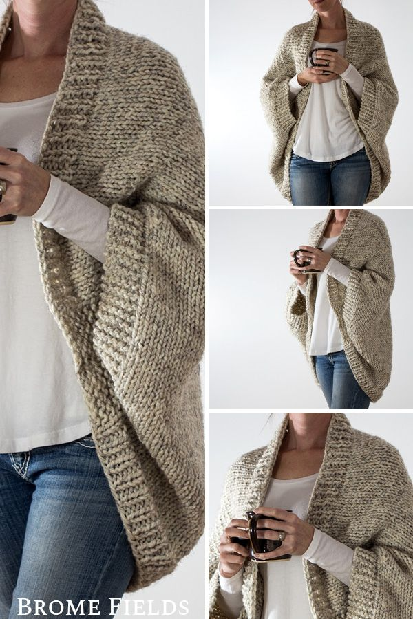 Over-sized Scoop Sweater Knitting Pattern #tricotetcrochet
