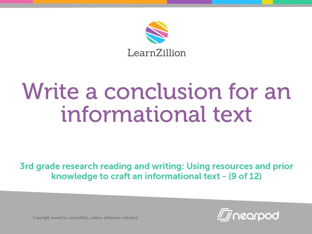Check Out This Amazing English Language Arts Presentation On Write A Conclusion For An