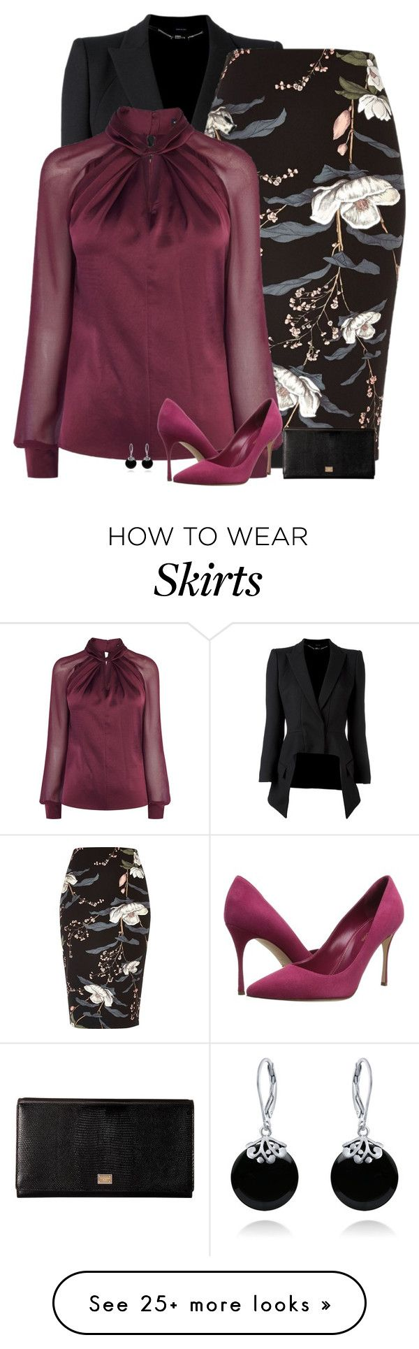 """""""raspberry"""" by divacrafts on Polyvore featuring Alexander McQueen, River Island, Sergio Rossi, Dolce&Gabbana, Bling Jewelry and Original"""