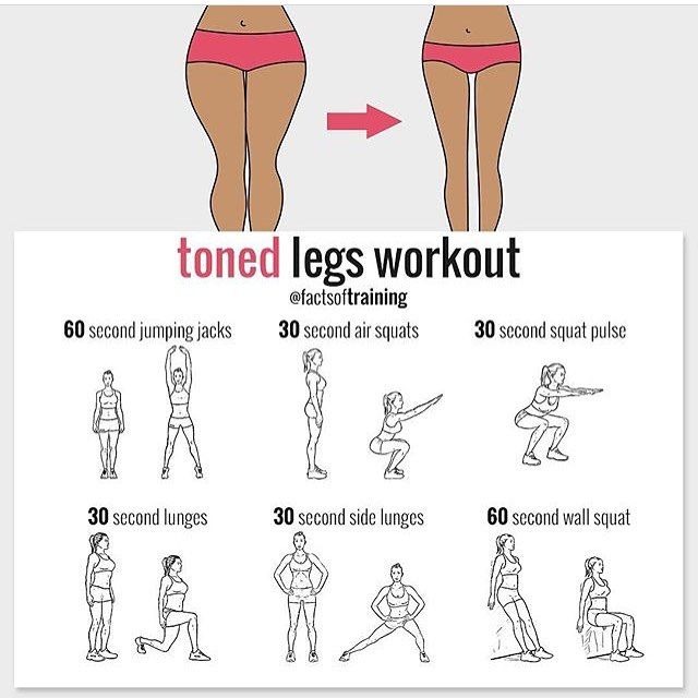 Toned Legs Workout, Workout