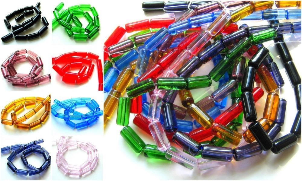 Glasperlen Linsen Abacus 4x8mm 70 Stück Farbauswahl SERAJOSY