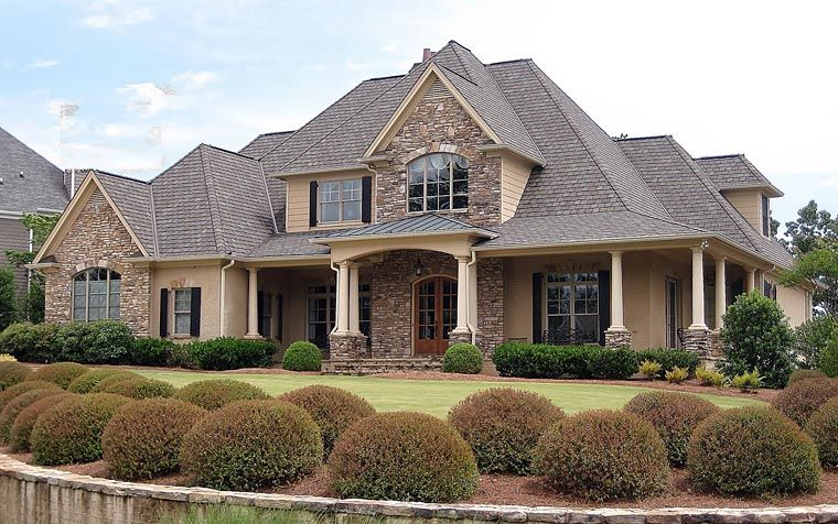 Traditional Style House Plan 50254 With 4 Bed 4 Bath 2 Car Garage Traditional House Plans Luxury House Plans American Houses