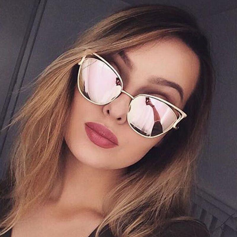 c69a52ba98f5d Cat Eye Women Rose Gold Sunglasses. Luxury Cat Eye Sunglasses Women Brand  Designer Retro Vintage Sun Glasses For Women Female Ladies Sunglass