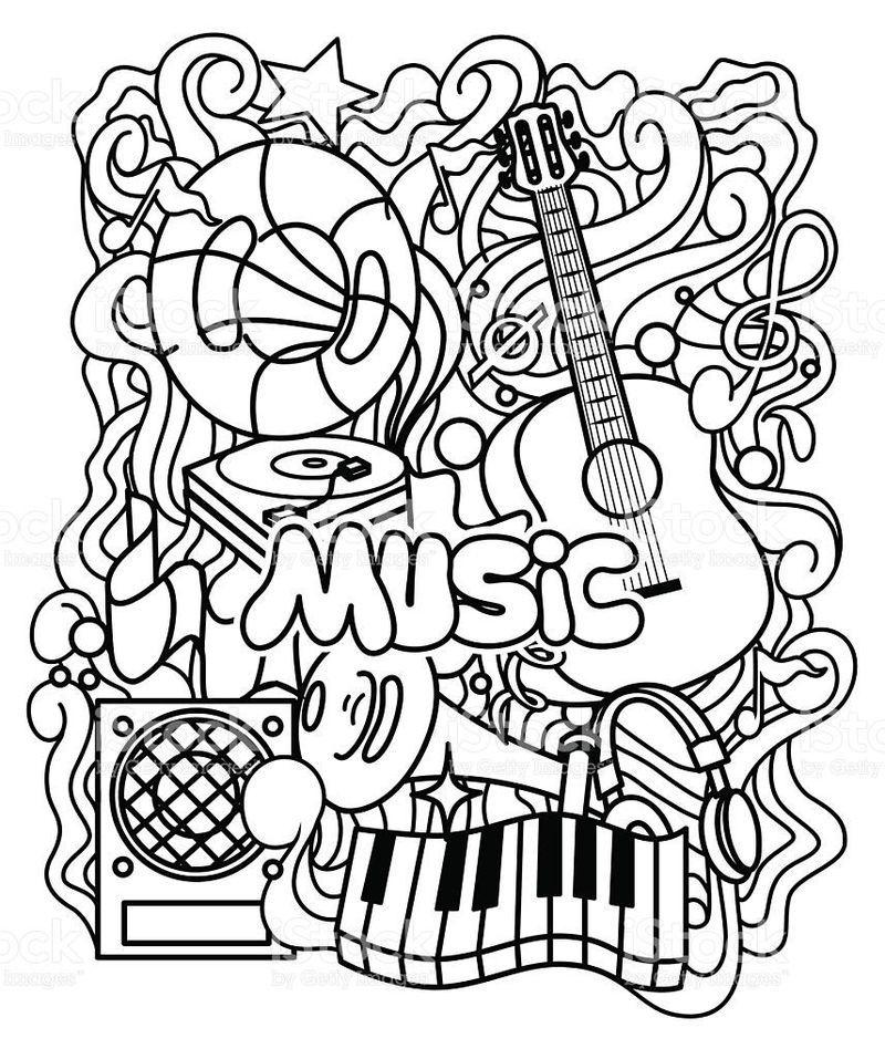 Music Coloring Sheets For Kindergarten