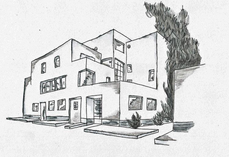 Dessin Par Rom Art France Artmajeur Maison Dessin Dessin Architecture Croquis Architecture