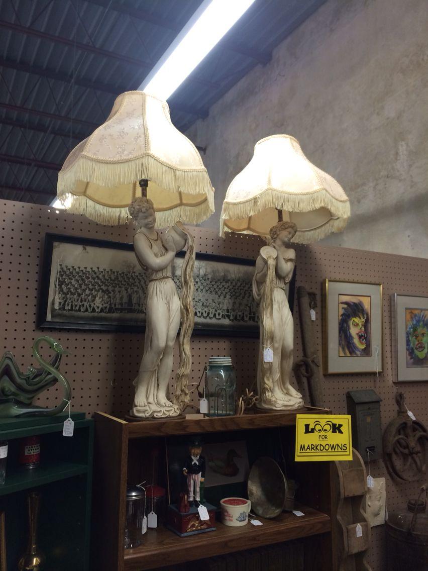 Grecian lamps. Great Art Deco look