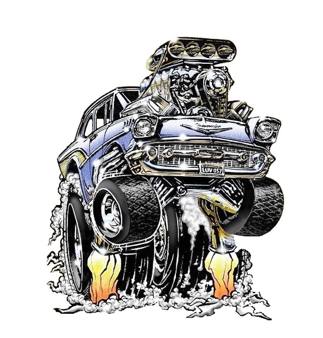 Krazy Kar Kartoon #83 Automotive Art Cars Garage