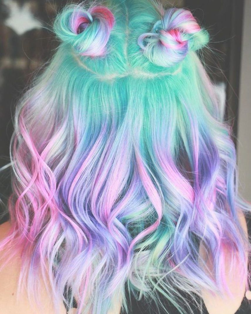 Pin Von Nelli Kim Auf Rainbow Hair Haarfarben Buntes Haar Bunte Haare
