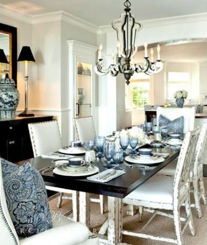 Barclay Butera Ocean Dining Room Coastal Dining Room White