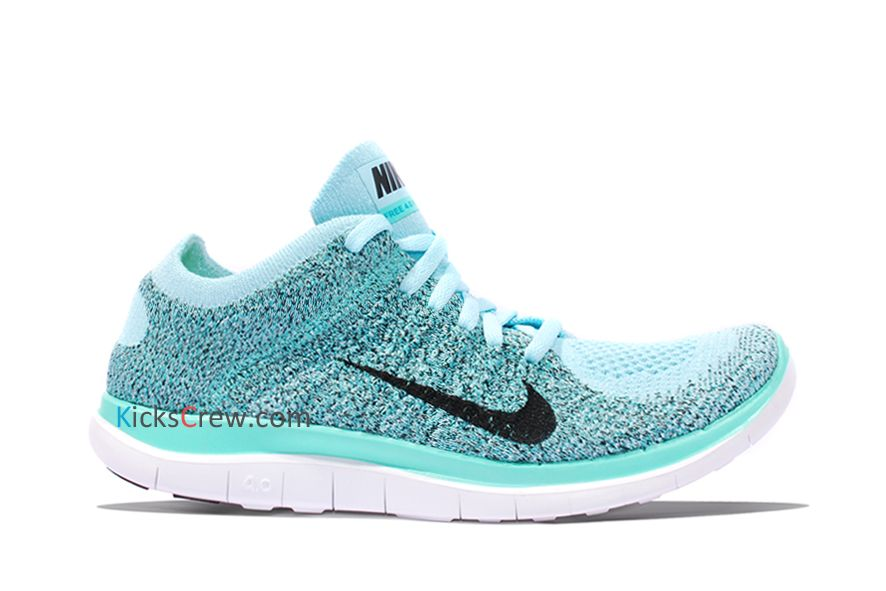 New Arrival Nike Wmns Free 4.0 Flyknit Glacier Ice Hyper Turquoise  (631050-403)