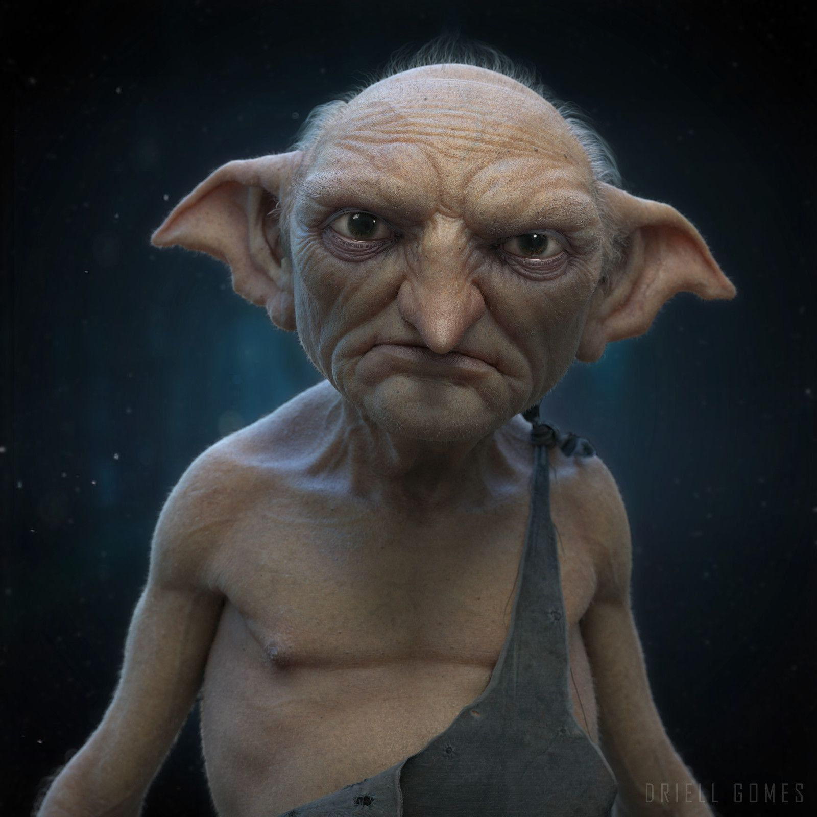 The House Elf By Driell Gomes On Artstation Elf House Elf Art Harry Potter Drawings
