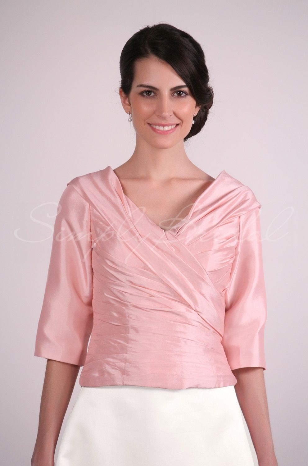 A Good Top Will Go With Any Bottom Just Look At Out Half Sleeve Taffeta Ruching