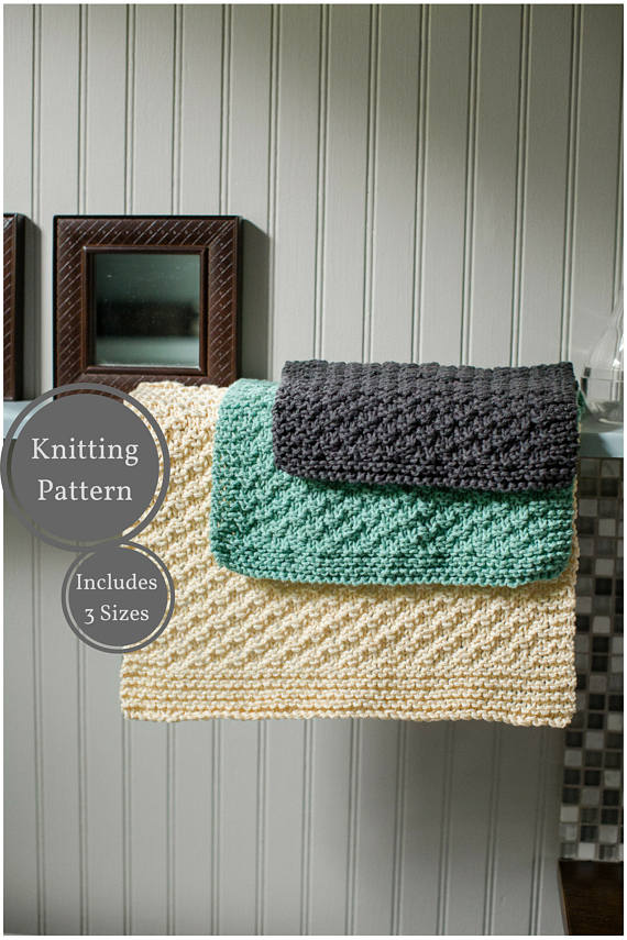 Washcloth Dishcloth Pattern Easy Knit Washcloth Pattern Easy