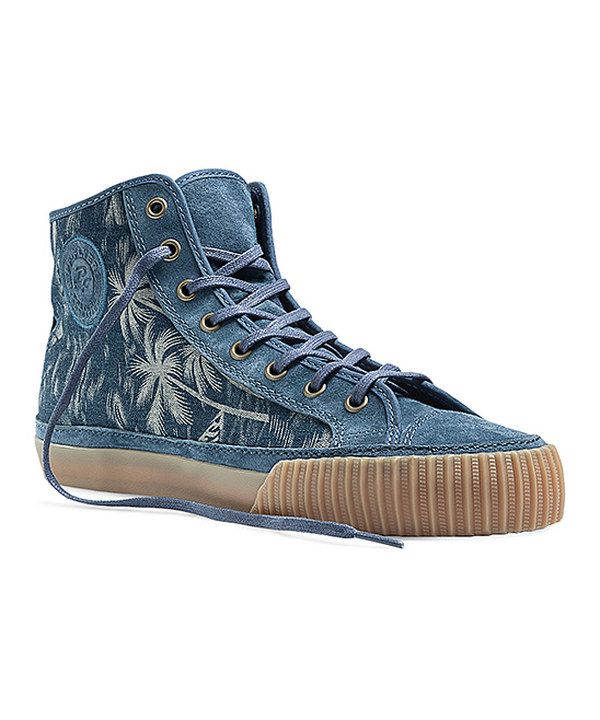 Look at this PF Flyers Blue Palm Tree Center Hi-Top Sneaker on  zulily  today! 248b08e02