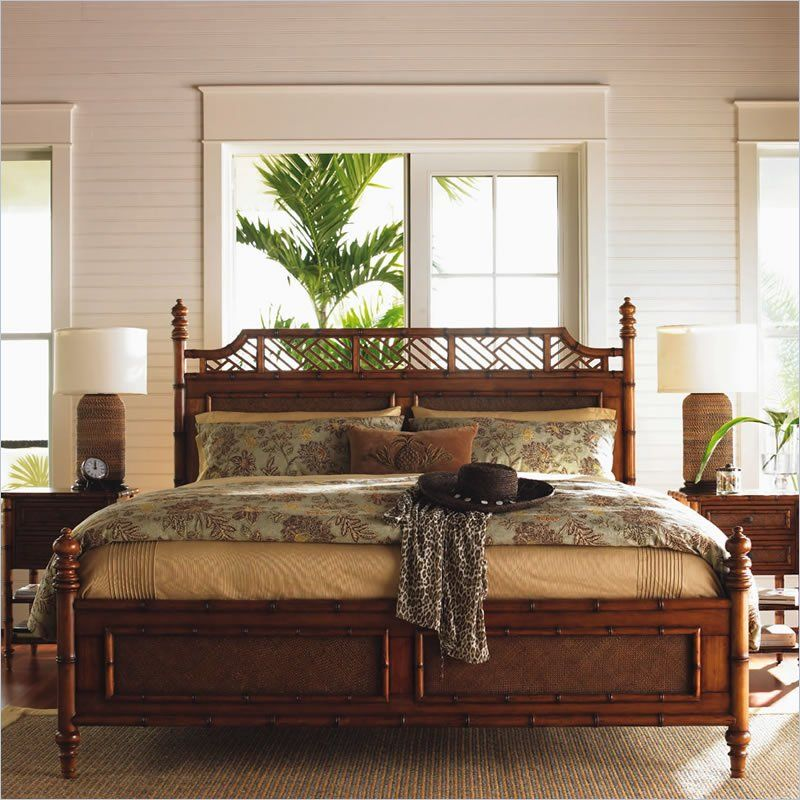 Classic Decorating Ideas For Plantation Style Homes: Tommy Bahama Home Island Estate West Indies Poster Canopy