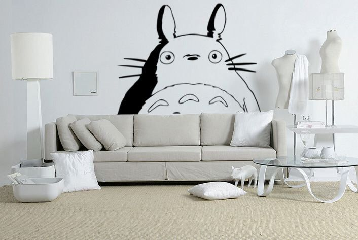 Totoro Wall Art Decal Sticker by MysteriousMan on Etsy https://www.etsy.com/listing/211432974/totoro-wall-art-decal-sticker