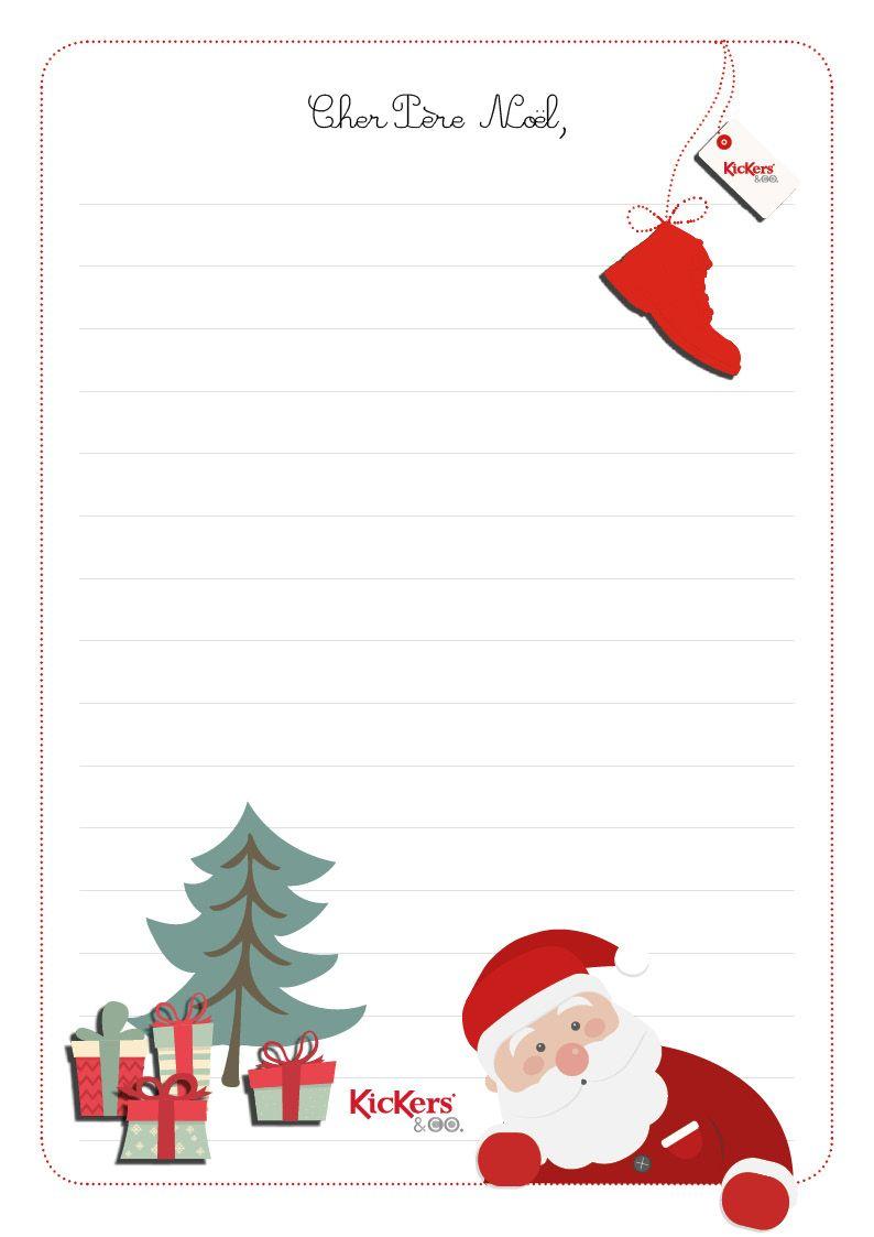 Liste Pere Noel La lettre au Père Noël | Lettre pere noel, Noel, Pere noel