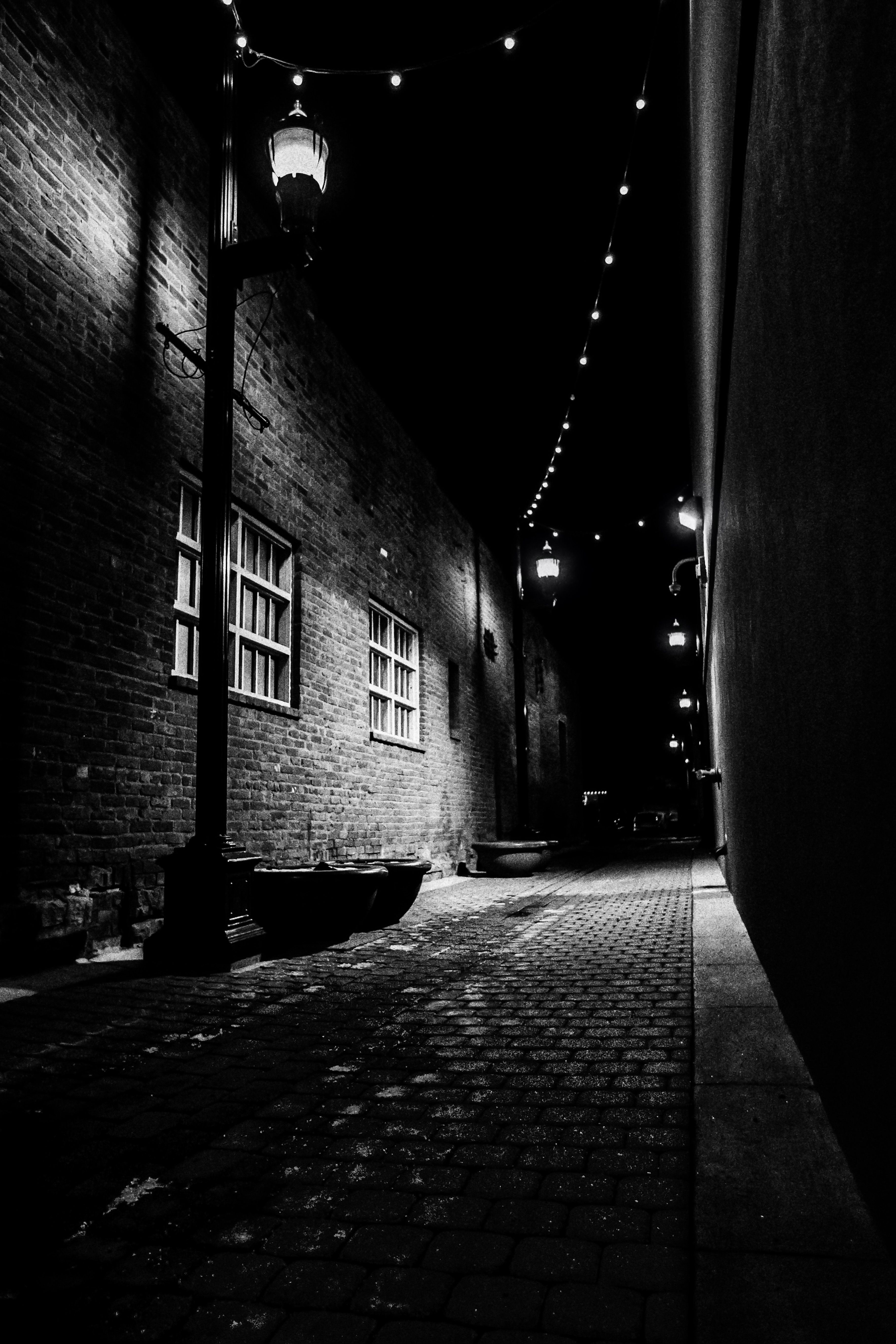 Black & White of Old Town Fort Collins Alley (2015)