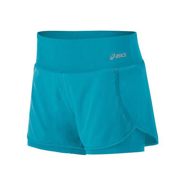 ASICS® Fit Shorts ($36) ❤ liked on Polyvore featuring activewear, activewear shorts, bondi blue, asics, logo sportswear and athletic sportswear