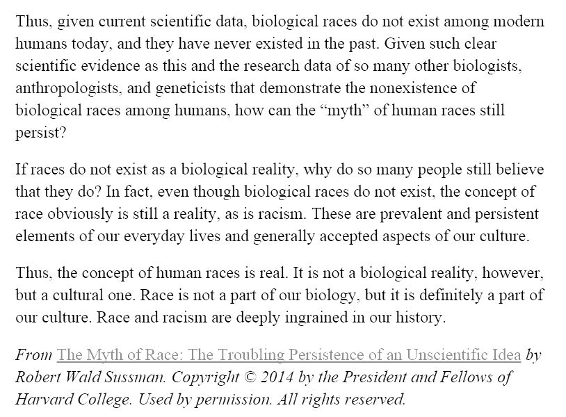 """The Myth of """"Race"""": The Troubling Persistence of an Unscientific Idea (11)"""